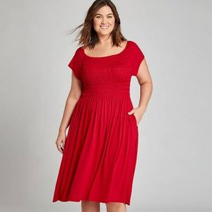 Lane Bryant Red Swing Dress